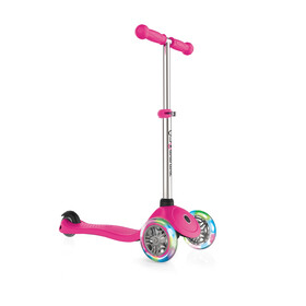 Globber Primo Lights Scooter with battery-free LED wheels Kids, pink